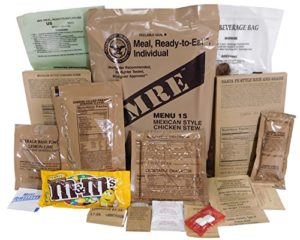 MRE (Meals Ready-to-Eat) Genuine US Military Surplus with Menu Selections (Mexican Style Chicken Stew)